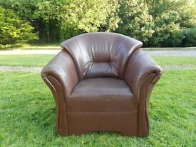 Dark Brown Big Club Chair