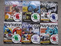 6 Official Sony PlayStation Magazines + playable demo discs - Numbers 71 72 73 76 77 80