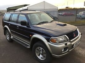2002 52 MITSUBISHI SHOGUN SPORT 2.5 TD EQUIPPE MEGA LOW WARRANTED 73K HISTORY IMMACULATE WOWPX SWAPS