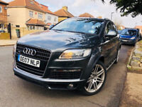 AUDI Q7 4.2 LITRE TDI S-LINE QUATTRO 2007 ONLY 66000 MILEAGE FULLY LOADED NOT MERCEDES ML TOYOTA