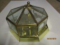 Ceiling brass effect light fitting
