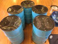 Painted Five Bass Steel Pan...
