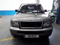 2008 Range Rover Sport 2.7L, Body Kit Upgrade, 22in Alloy Wheels.