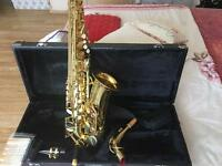 Alto saxophone in hard case NOW £160.00