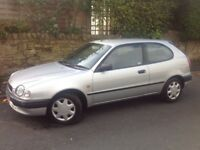 TOYOTA COROLLA 1.3 GS 3 DOORS HATCH BACK SILVER ** LOW MILEAGE!!! ** LONG MOT!!! **