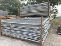 3.45 X 2M TEMPORARY SECURITY HERAS FENCING PANELS ~ USED