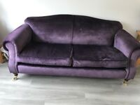 Stylish Purple Velvet Sofa
