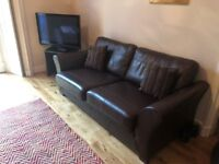 EXCELLENT CONDITION - TWO LEATHER SOFAS - £450 ONO