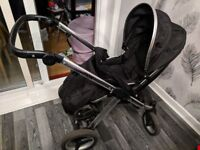 Second hand oyster max carrycot and buggy with buggy board