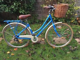 LADIES PENDLETON SOMERBY 7 SPEED ROADSTER/TOWN BIKE WITH WICKER BASKET LIKE PASHLEY