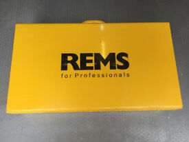 Rems Mini Press Gun 2 Batteries 2 Jaws and Torch - In Pristine Condition