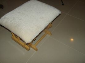 Footstool 2 footstools for sale as new one neutral colour one red pattern