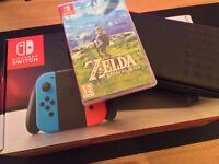 New Nintendo Switch Neon with Zelda
