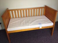 NEXT baby cot bed with mattress