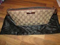 Gucci small womens bag, boat bag / pochette