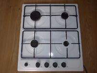 Gas hob in white - Excellent Condition