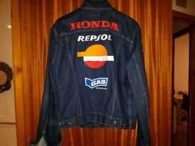 Gas designer limited edition repsol Honda denim jacket