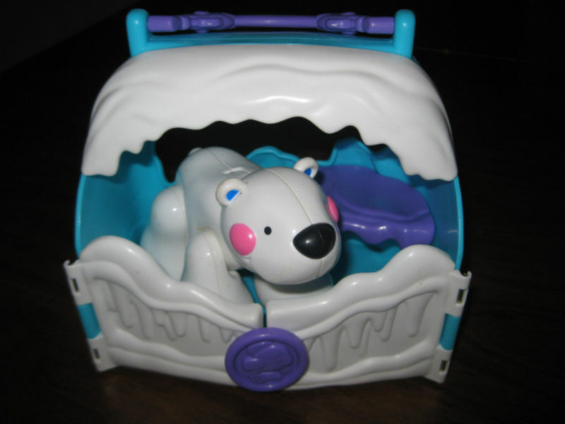 Fisher Price Baby Amazing Animals Polar Bear Tote Lot Ice Cave Toddler toy part
