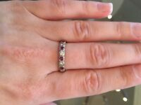 Diamond and Ruby 18ct Gold Half Eternity Ring