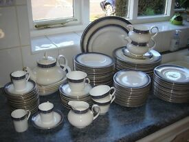 Bone china, Royal Dalton, Sherbrooke pattern, dinner, coffee and tea set