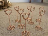 Wedding Rose Gold Copper Photo Holders Frames Table Decoration