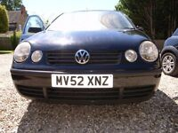 VW POLO E - 9N 2002 BREAKING FOR PARTS
