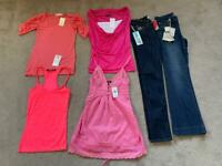 New With Tags Size 8-10 Women's Jeans Tops Summer Bundle T-shirts Pink