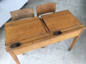 Children's Double Box desk from ESA Inc. 2 Chairs