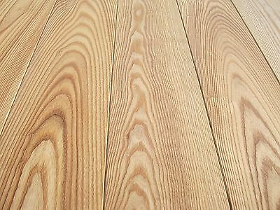 Massivholzdielen Parkett Dielen Esche Natur 15x110 mm, gebürstet naturgeölt  ()