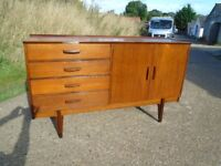 Lovely Retro Teak Stag Sideboard Fully Restored To High Standard Delivery Can Be Arranged.