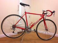 Road bike racing LONDON red Hercules 21 speed 700 x 23c shimano frame size 54cm M L
