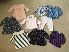 3-6 bundle baby girl clothes jojo maman bebe, little white company etc