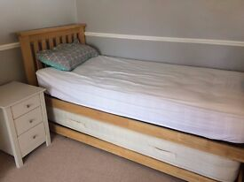 bed with pull out bed underneath (inc mattress)