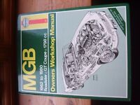 MGB Haynes Owners Workshop Manual. 1962-1980 Roadster, GT Coupe, 1798cc