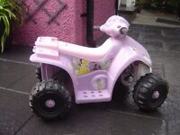 GIRLS BATTERY OPERATED QUAD