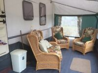 2003 Stirling 4 Birth caravan with fixed bed