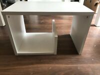 White side coffee table