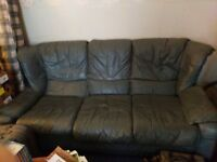3 seater leather sofa .. pick up only ASAP