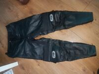 Jts ladies leather motorbike trousers size 10