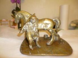 Large brass farrier/blacksmith ornament
