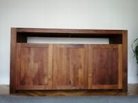 Barker & Stonehouse Solid Walnut Sideboard 3 Door Cabinet Cupboard Rare RRP£1500
