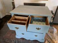 Vintage beautiful large painted pine chest of drawers