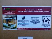 DIY steel, pvc Greenhouse - summer house - lean to made by Norfolk Greenhouses new boxed
