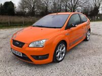 2006 06 FORD FOCUS ST 2.5 ELECTRIC ORANGE CAMBELTED FULL LEATHER HISTORY PX SWAPS