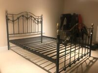 Sturdy classic metal bed frame