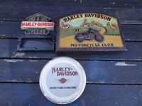 Vintage 1980,s USA Harley Davidson Collectibles