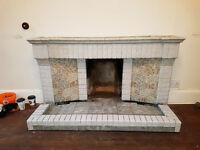 Original 1930's Antique Art Deco Fire Surround
