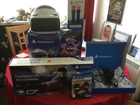 PS4 virtual reality head set and extra game