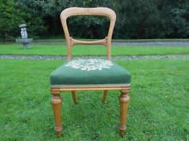 Nice Detailed Balloon Back Oak Chair
