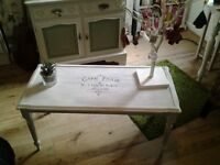 Beautiful upcycled shabby chic table